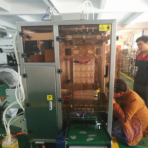 Thailand customer checking and testing liquid sachet packing machine he purchased