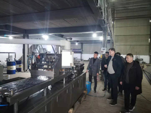 Poland customer visiting and checking blister packing machine in the factory