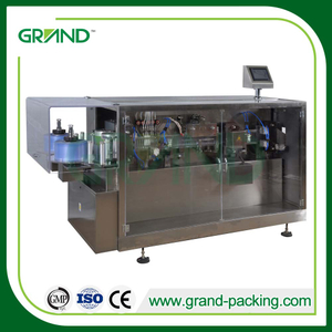 Monodose plastic ampoule liquid filling sealing packing machine